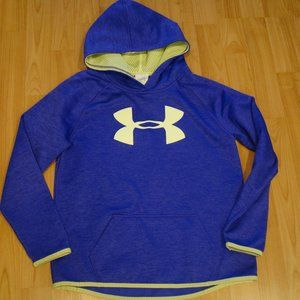 Under Armour girls Medium purple/yellow sweatshirt